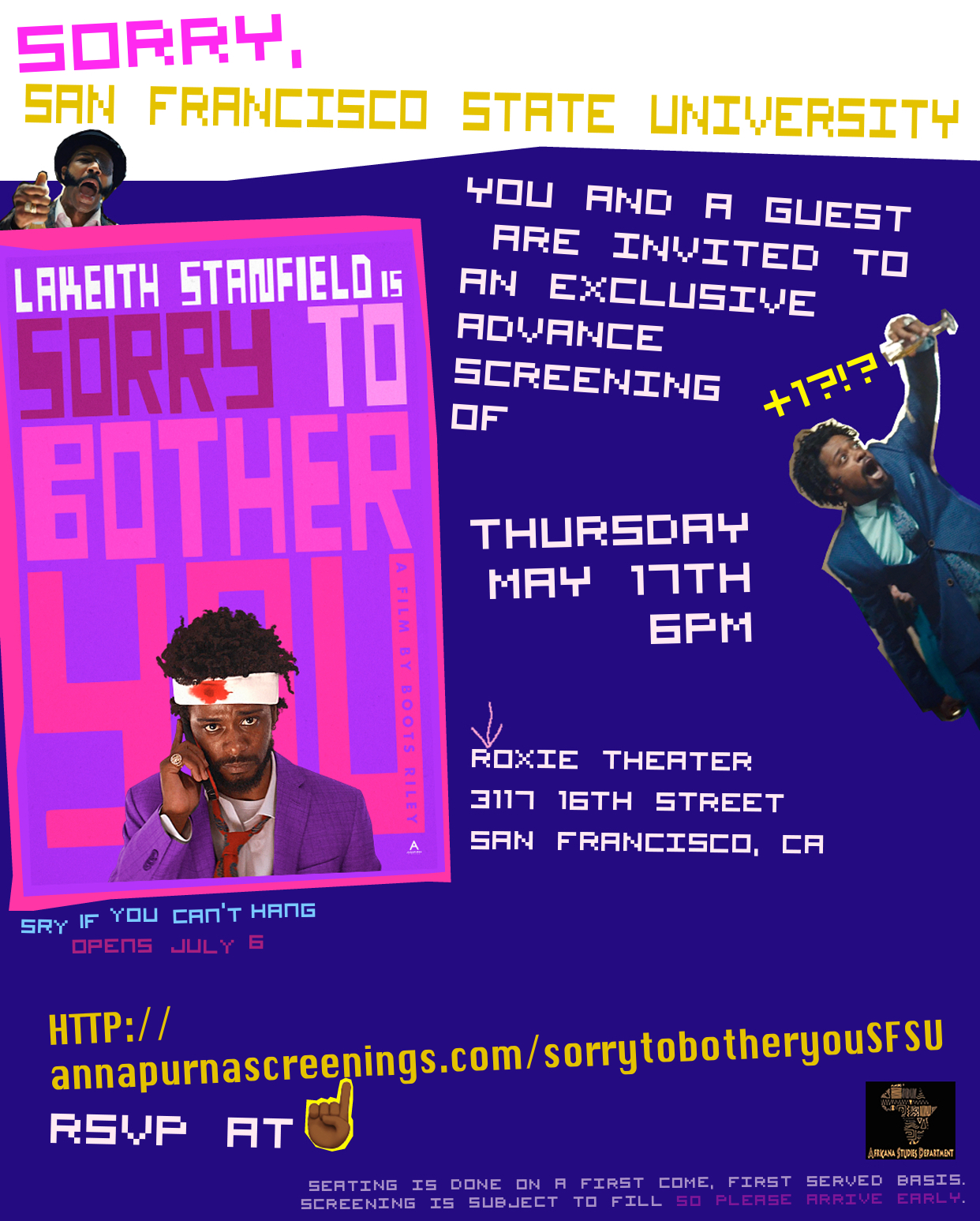 Sorry to Bother You screening