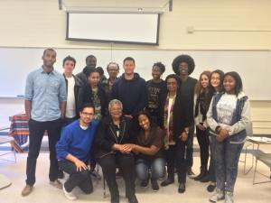 Civil Righs pioneer visits with SF State Africana students and faculty