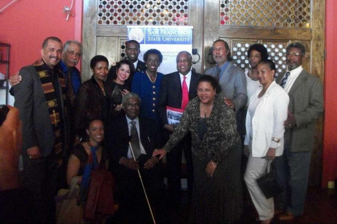 Dr. Hare and Black Studies founders and family at event in 2011