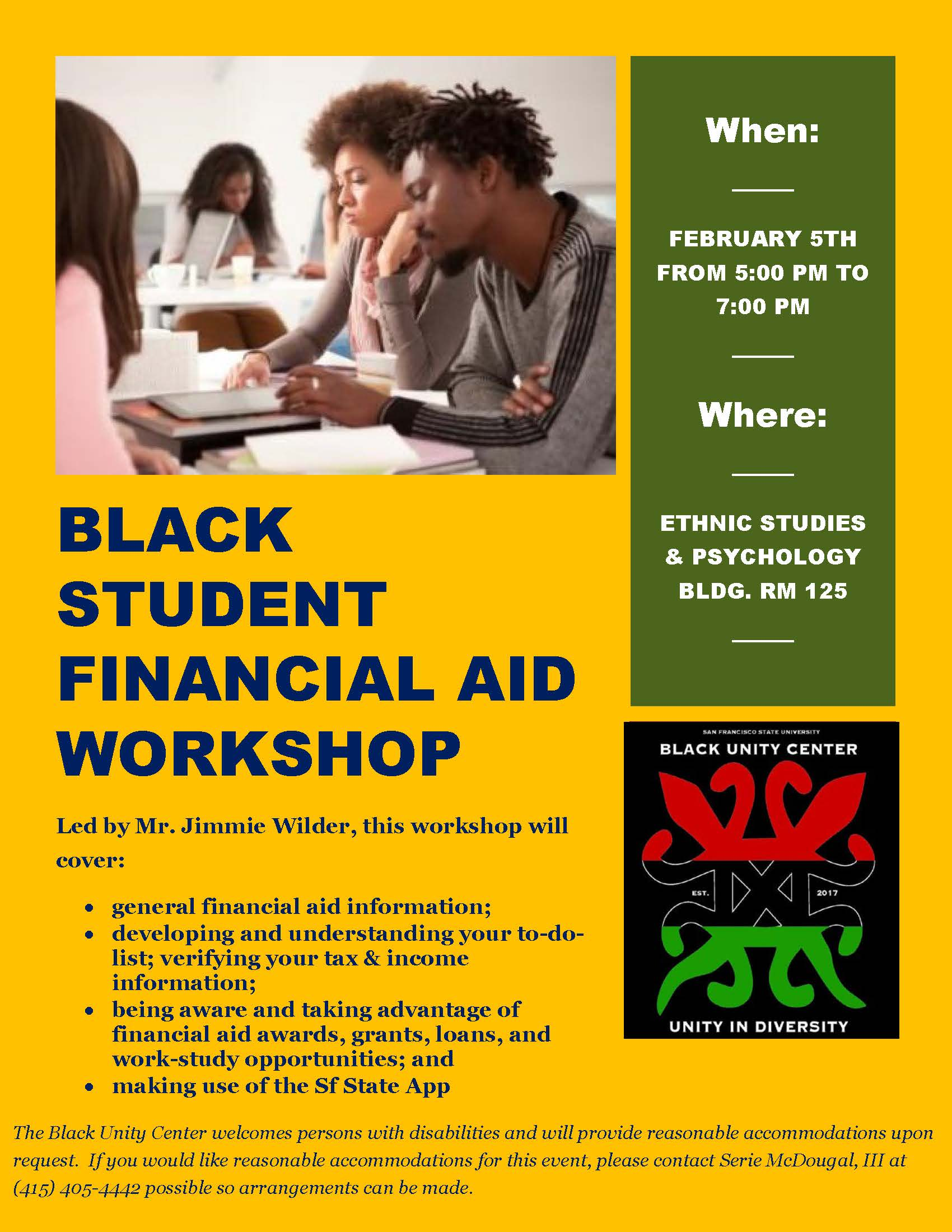 Student Financial Aid Workshop