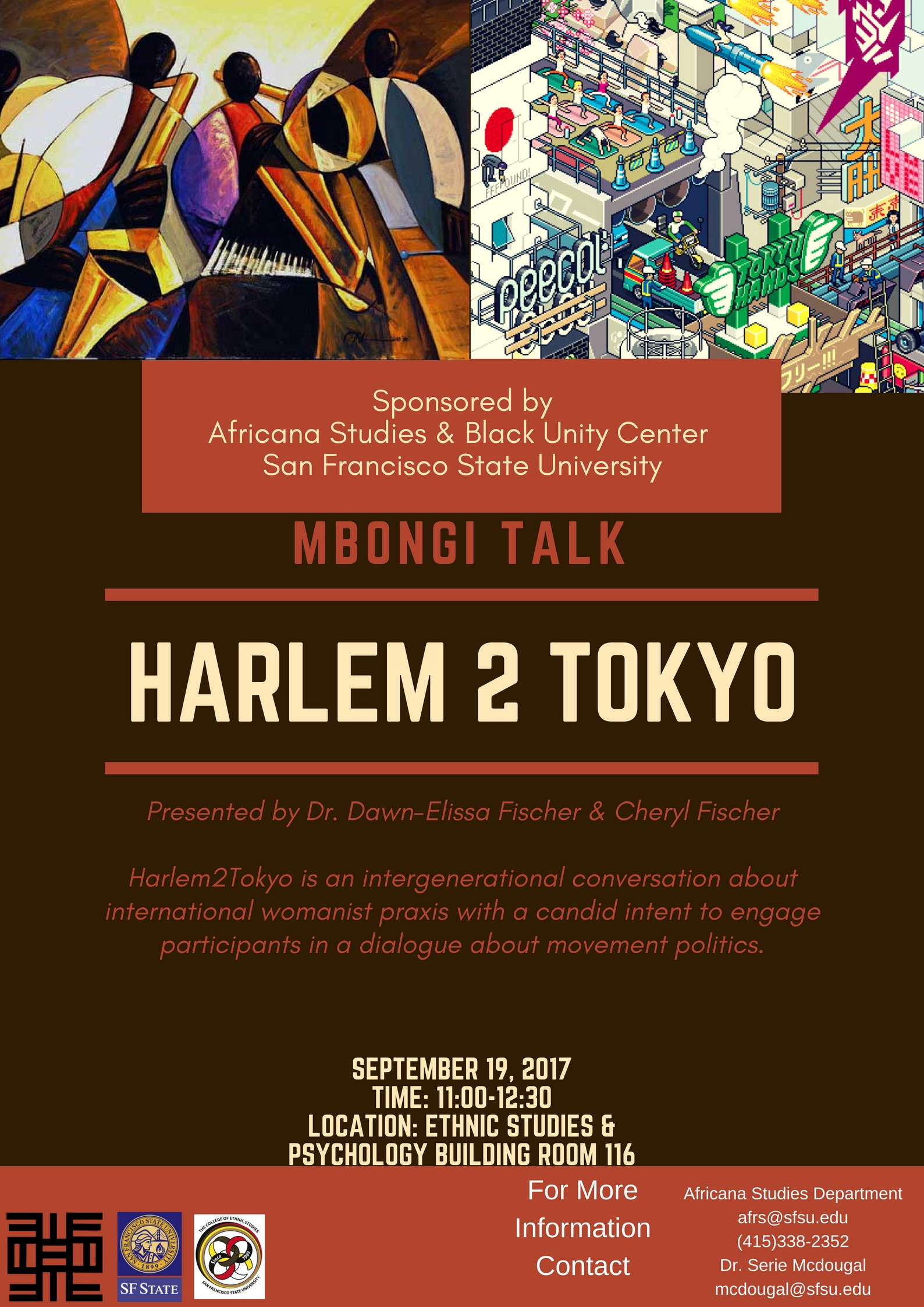 Mbongi Talk this Tuesday featuring Dr. Dawn-Elissa Fischer and Cheryl Fischer