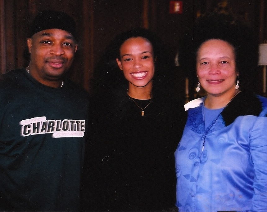 Dr Faye Harrison and Chuck D with DEF