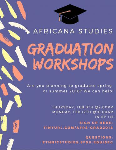 graduation workshop flier cap and confetti