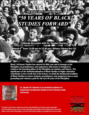 50 Years of Black Studies Forward