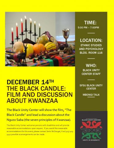 The Black Candle: Film and Discussion About Kwanzaa