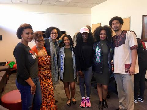 Africana studies students and faculty at semi-annual luncheon